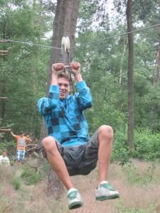 Lars op de kabelbaan