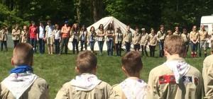 De gidsen van Scouting Vught-Noord bij de RSW